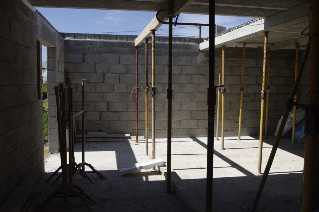 RDC salon, plancher de l'étage en cours