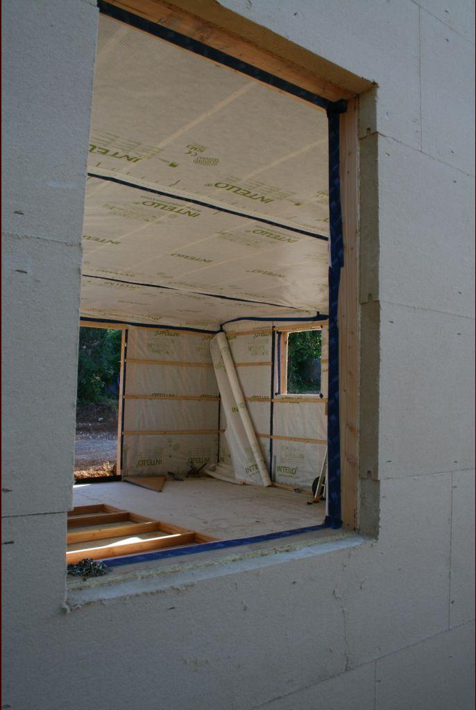 Pose de l'isolation extérieure - épaisseur 80mm