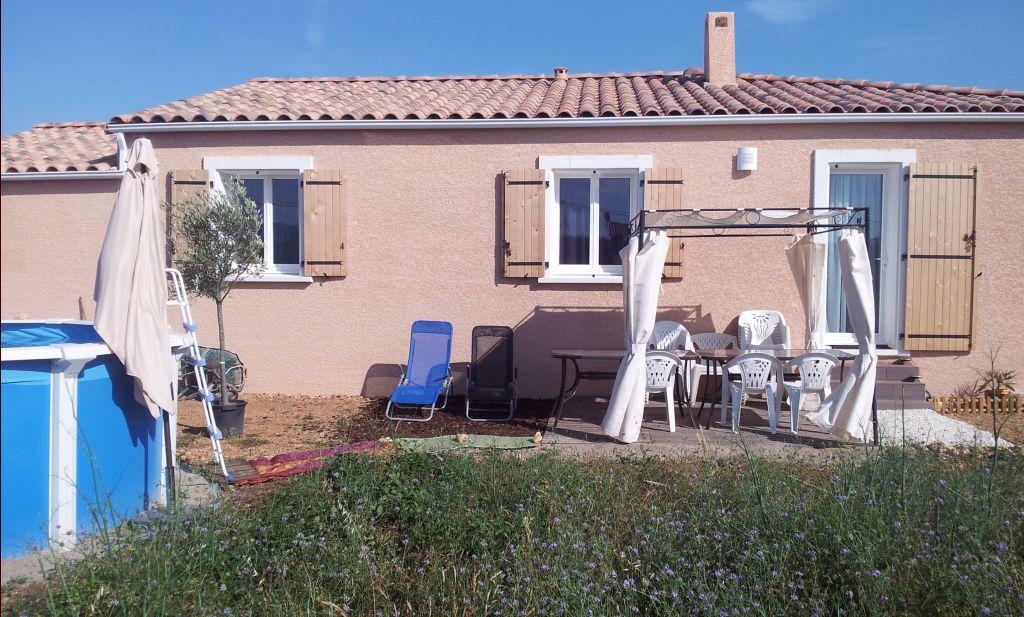 Terrasse d 39 t photos de devant st andre de sangonis for Piscine bois 3mx3m