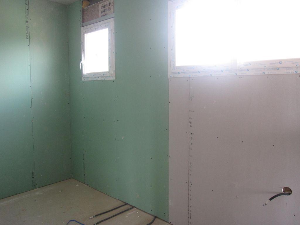 Semaine du 11 au 15 juin 2012 isolation du rez de chauss e isolation murs rez de chauss e - Laine de verre cloison 45 ...