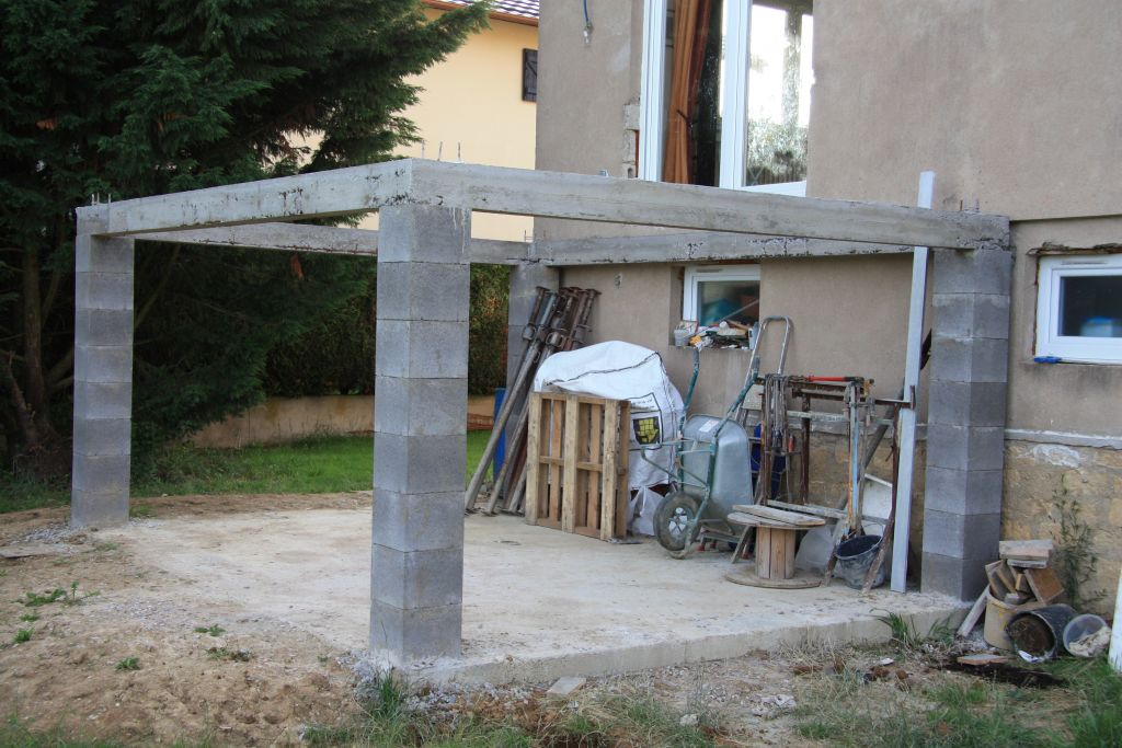 Mauvais coulage de mes poutres en b ton 18 messages for Terrasse suspendue beton photo