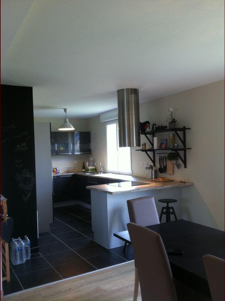 Cool cuisine murs lin carrelage noir meuble gris for Avis maison le masson