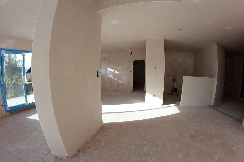 Rdv terrasse bois ext rieur l 39 tage pl tre termin for Fond plafond platre