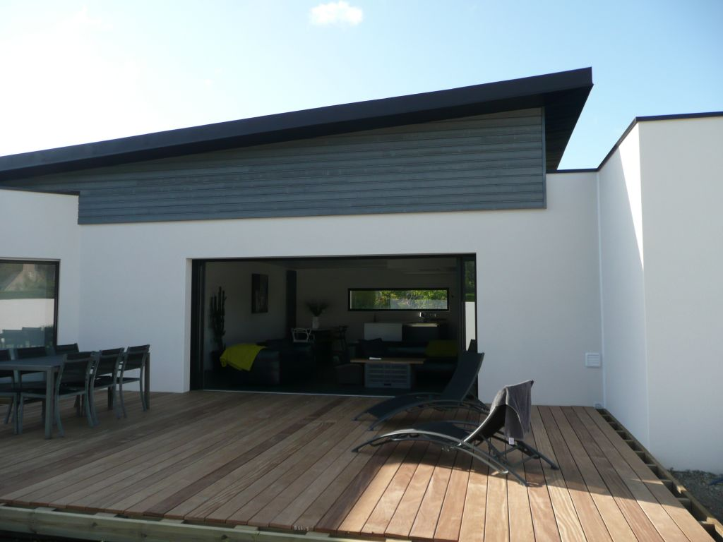 Terrasse bois lattes - Nostang (Morbihan - 56) - juin 2012