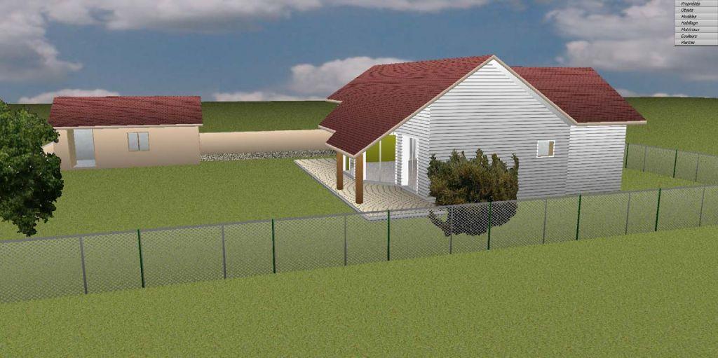 Simulation 3D de la construction vue de coté