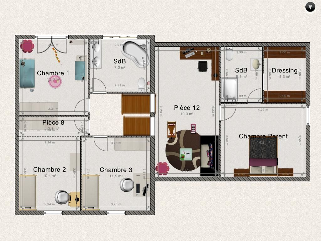 plan maison demi niveau - Plan Maison Demi Niveau 4 Chambres
