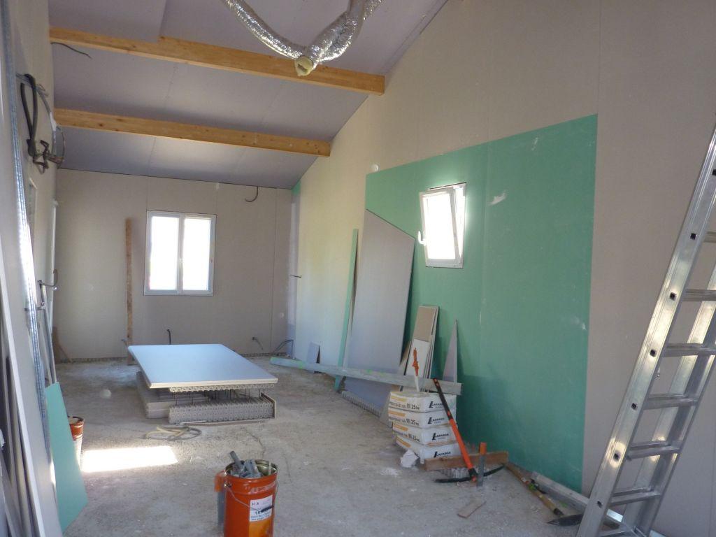Placo au plafond placo au plafond suite garage for Placo hydrofuge cuisine