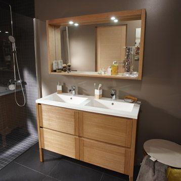 meuble double vasque brico depot meuble salle de bain noir pas cher exceptionnel double vasque - Meuble Double Vasque Brico Depot