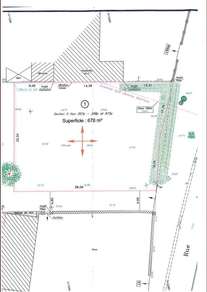 Voici le plan de notre terrain