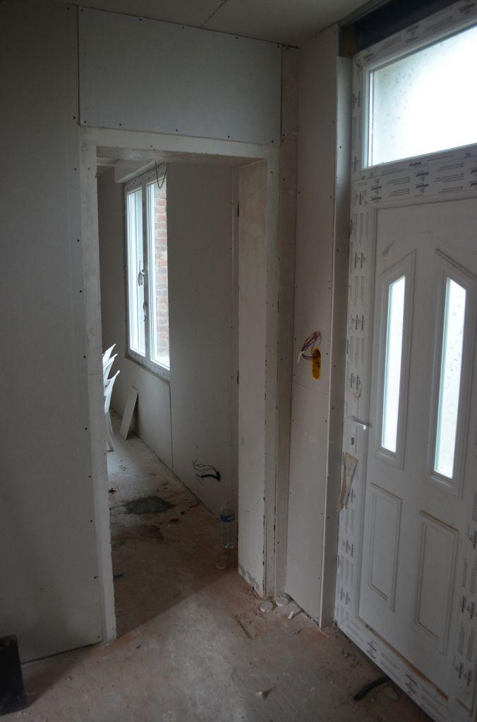 Travaux d 39 isolation plafond et pose du placo travaux d for Isolation mur interieur salle de bain