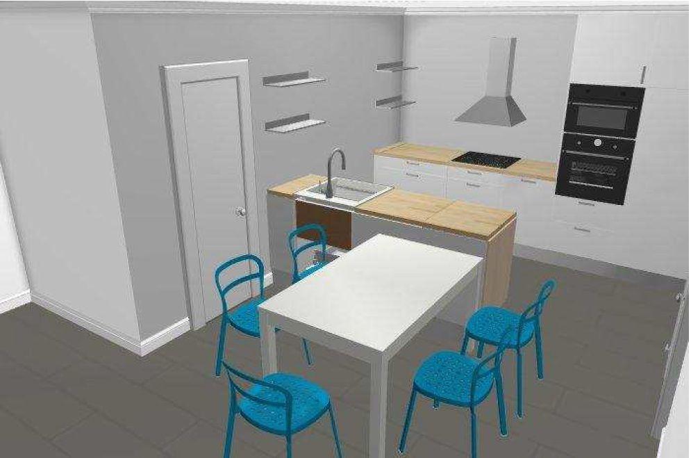 Vue 3D cuisine Parallèle