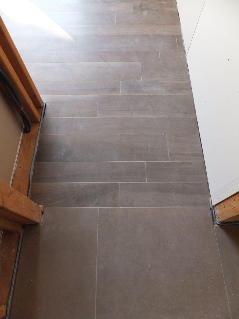 Jonction Carrelage couloir / chambre   placo sur les murs