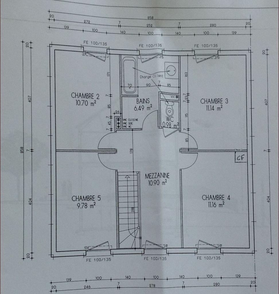 Plan de la maison terrain pr par map r aliser osny - Realiser plan de maison ...