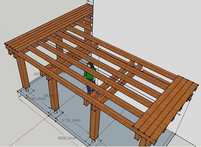 Projet terrasse sur pilotis 13 messages - Construction d une terrasse en bois sur pilotis ...