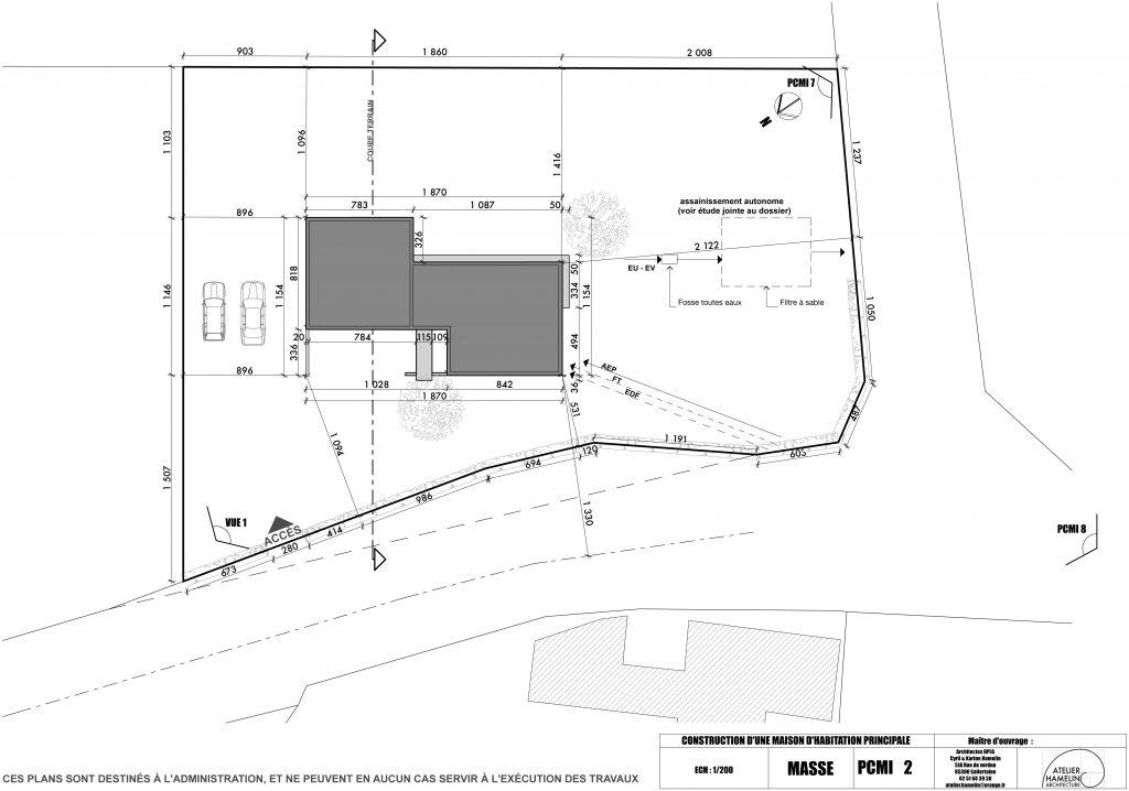 plan de masse maison gratuit plan de maison en longueur. Black Bedroom Furniture Sets. Home Design Ideas