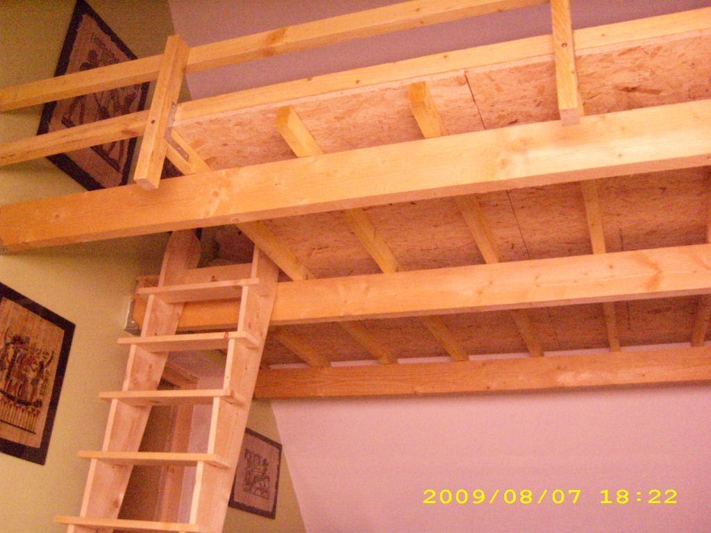 R alisation d 39 une mezanine 8 messages - Construire une mezzanine en bois ...
