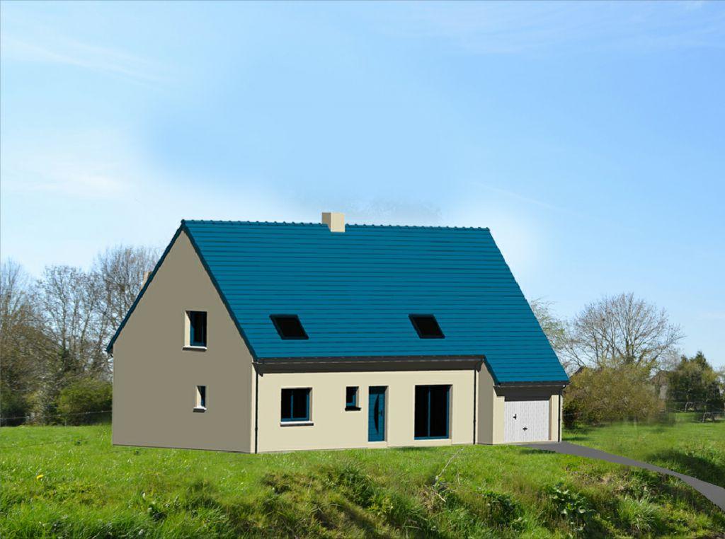les menuiseries et le toit ne sont pas bleues en réalité. Sur l'insertion cela permet de voir les détails des tuiles.