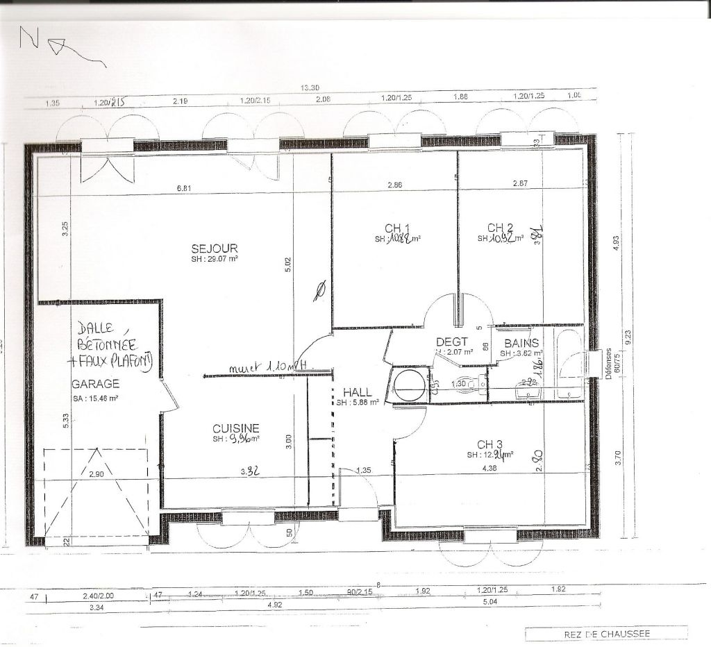 Plan de maison de 70m2 plain pied for Plan maison plain pied 50m2