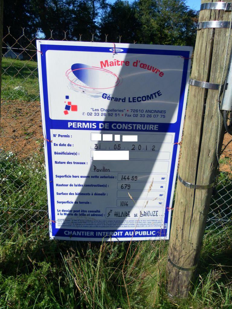 Panneau du permis de construire !