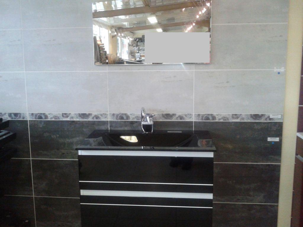 Faience salle de bain gris clair meilleure inspiration for Photo salle de bain