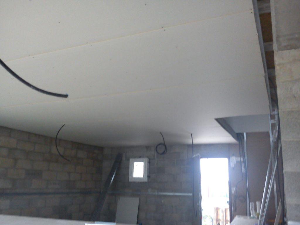 Placo du plafond du RDC terminé