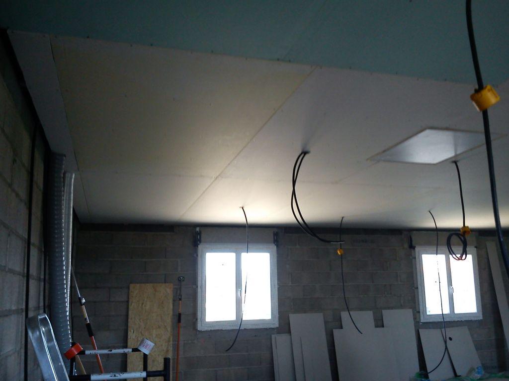 Fin du plafond de l'étage