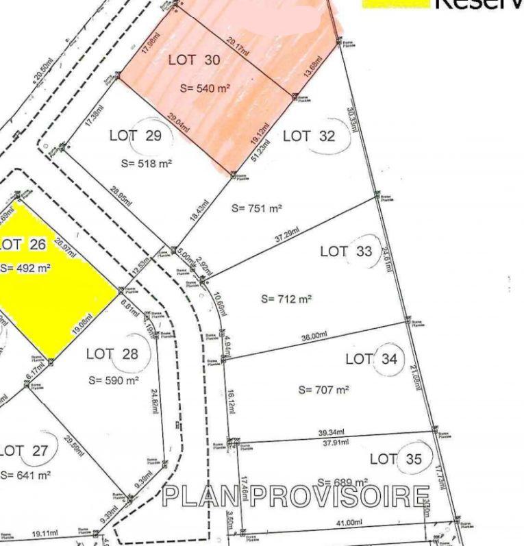 Plan de la résidence et de notre terrain (LOT 33)