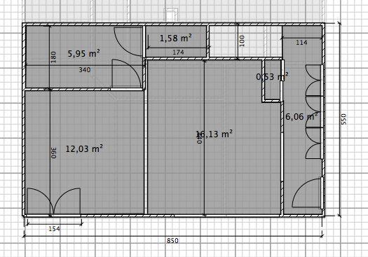 Plan du bas révisé et métré