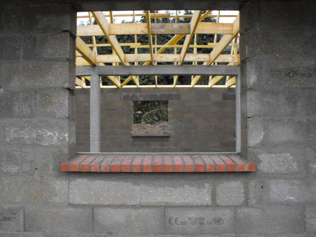 Appuie de fenêtre en brique.
