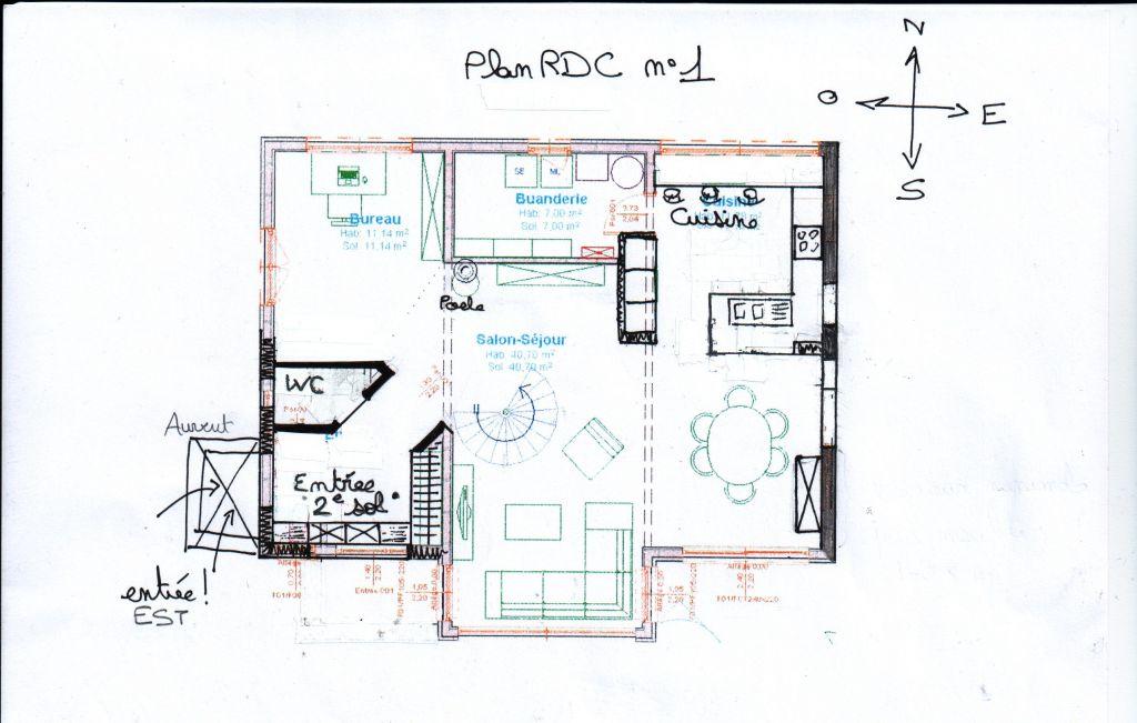 Plan RDC - n°1 - entrée ouest