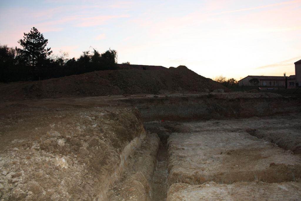 Terrain après terrassement