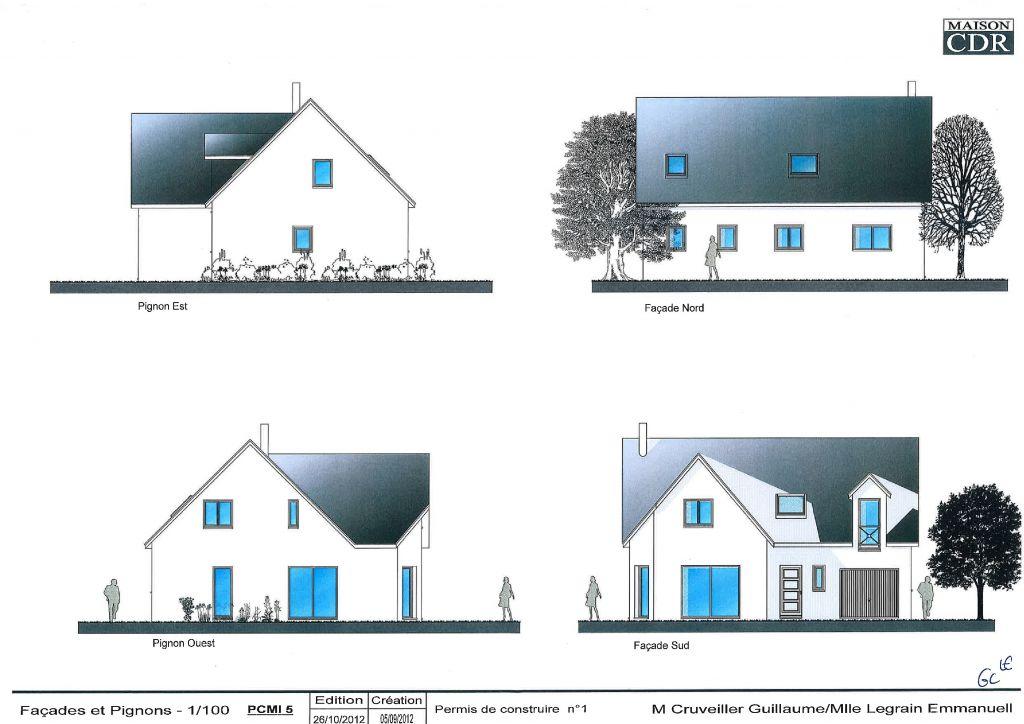 Les 4 vues de la future maison !