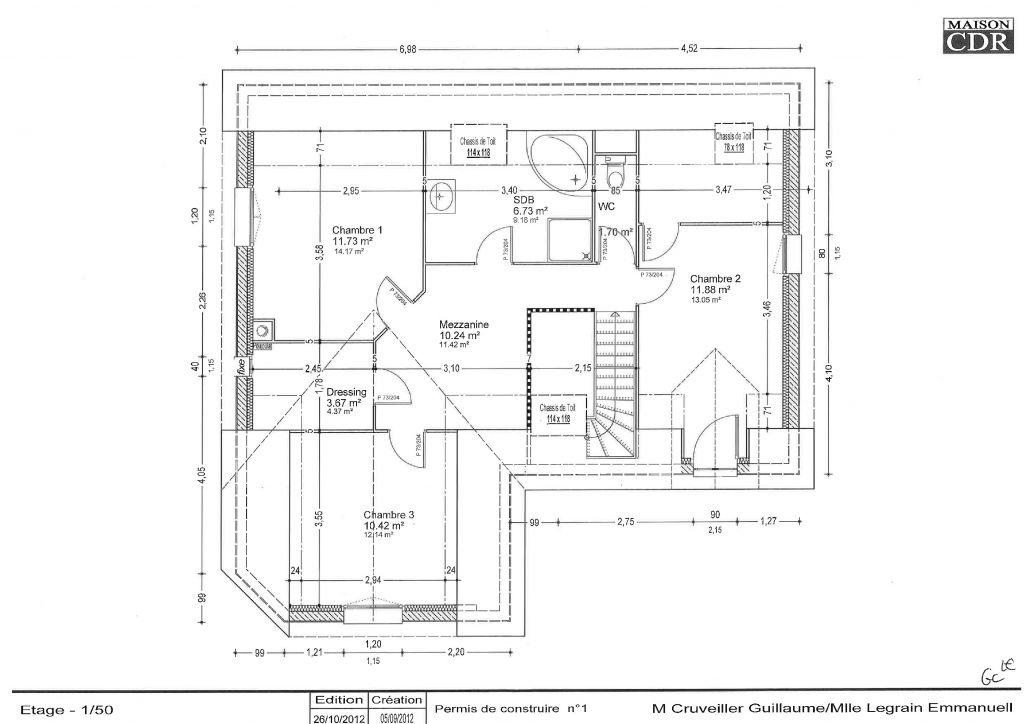 Voici le 1er étage de la maison