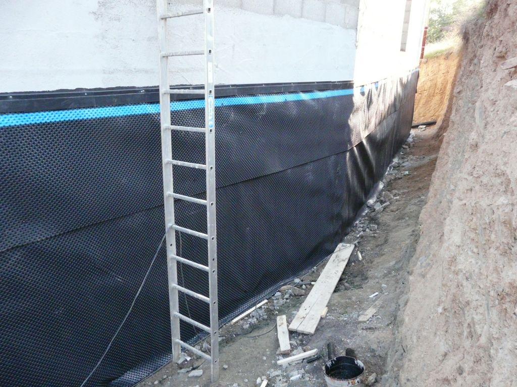 delta ms ou goudron en complement du mortier hydrofuge. Black Bedroom Furniture Sets. Home Design Ideas