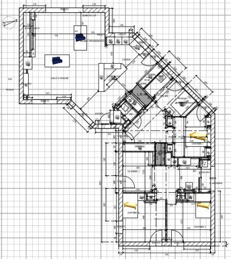 Réduction des couloirs et cloisons