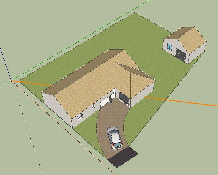 Garage annexe l 39 angle du terrain permis refus 21 messages - Regles de construction en limite de propriete ...