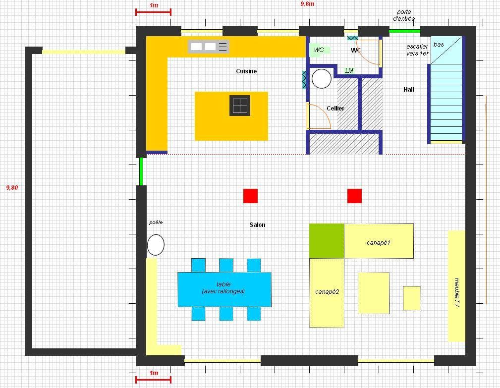 Exemple de plan réalisé sous Excel
