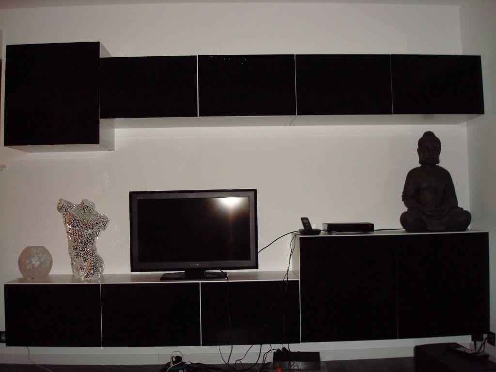 Implantation definitive cuisine notre maison toit plat - Meuble tv suedois ...