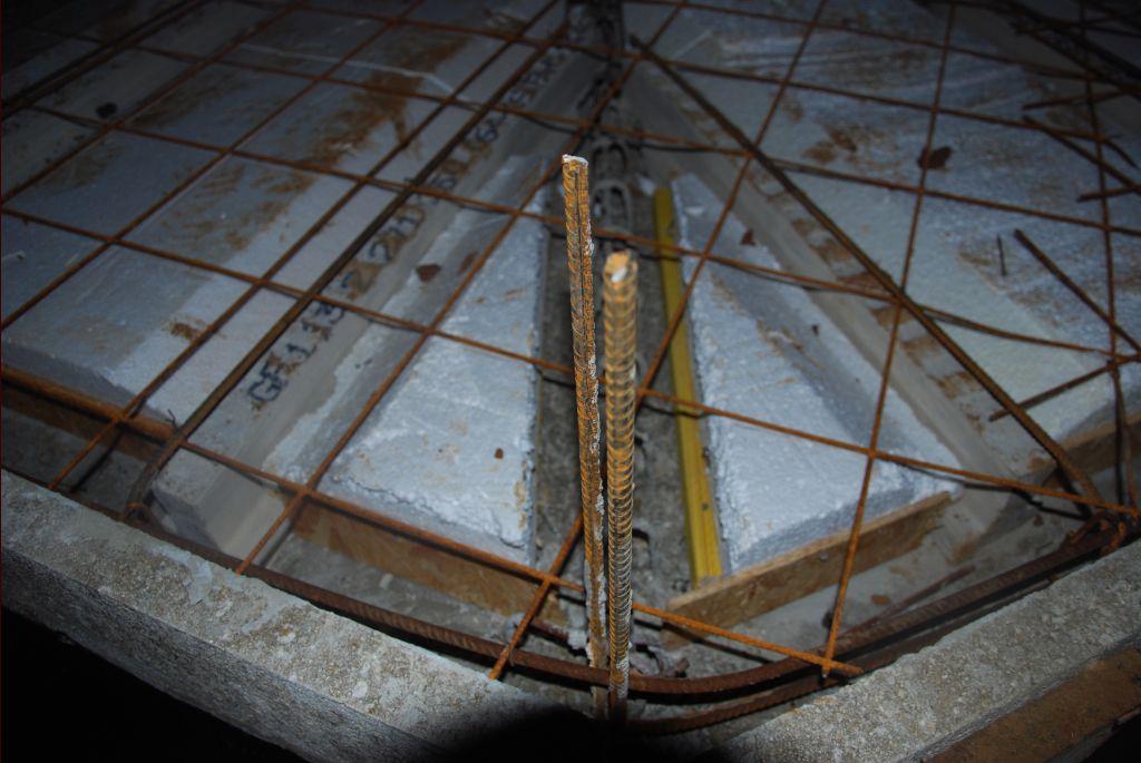 Armature acier, angle nord