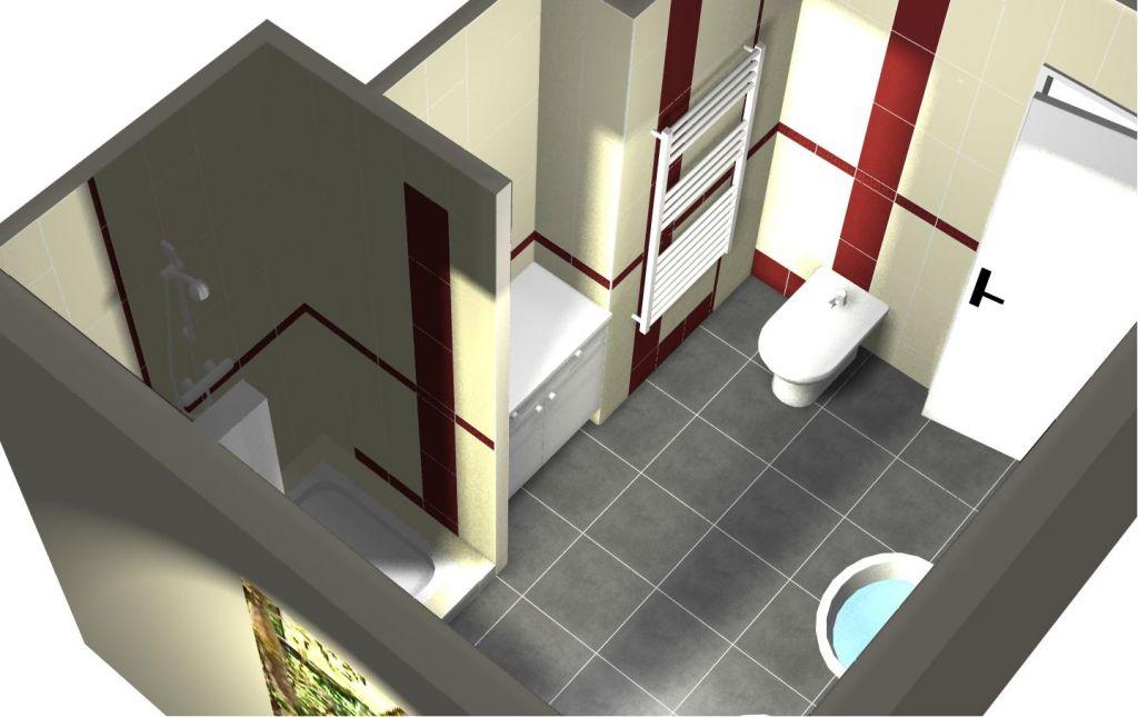 Plans et etudes faience salle de bains carrelage for Image miroir photoshop