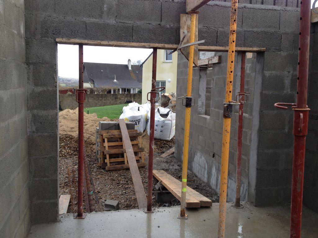 Ouverture pour la porte de garage