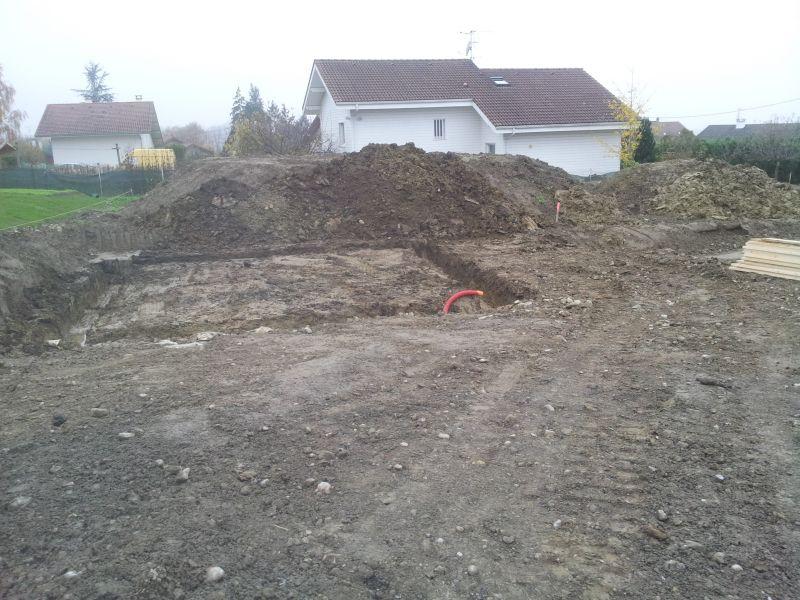 Photos de trou terrassement fin les murs du for Terrassement garage