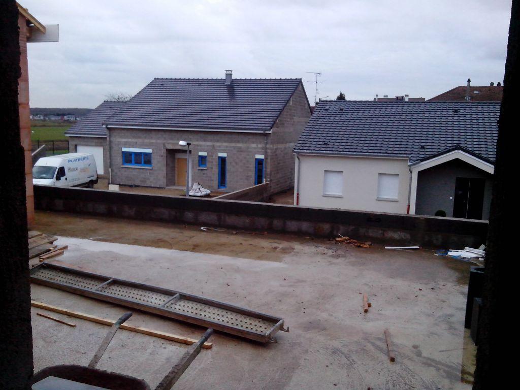 La vue du toit terrasse depuis la chambre des parents