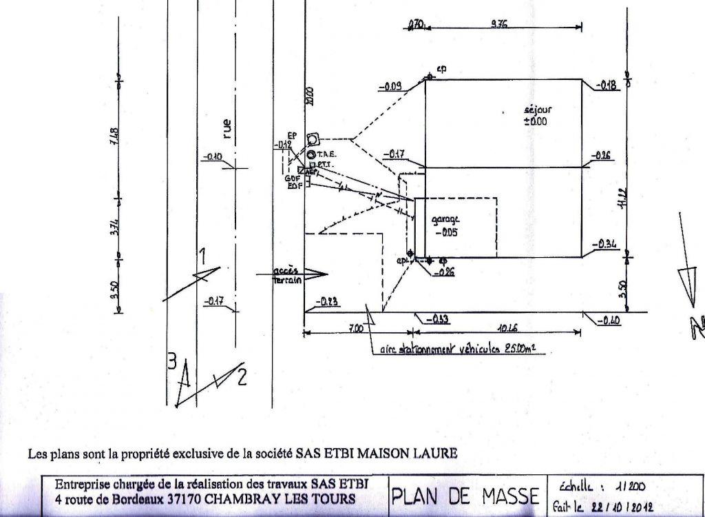 conception des plans plans pour le permis de construire ste maure de touraine indre et loire. Black Bedroom Furniture Sets. Home Design Ideas