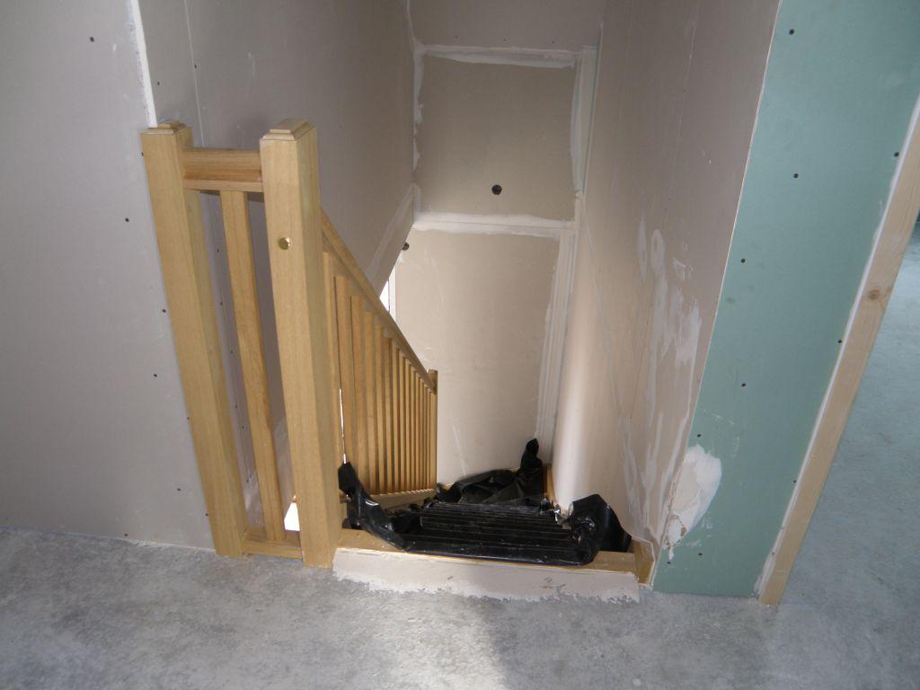 haut de l'escalier