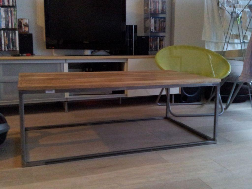 Plateau table basse, 1ère couche.