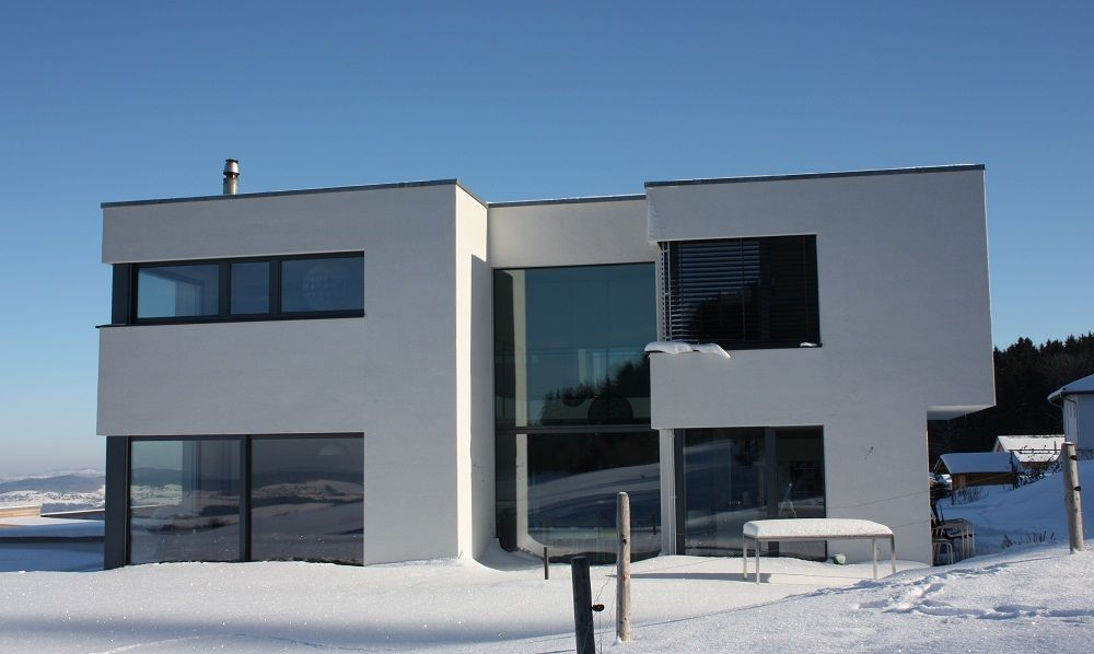 Facade sud-ouest - Suisse - décembre 2012