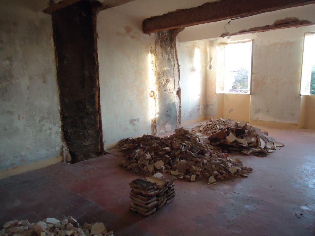 Suppression de la cheminée et d'un canon de cheminée chambre 1er sud