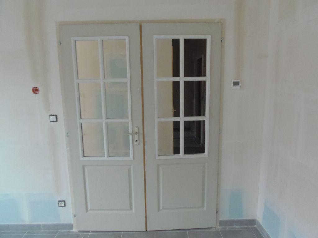 double porte vitré du salon