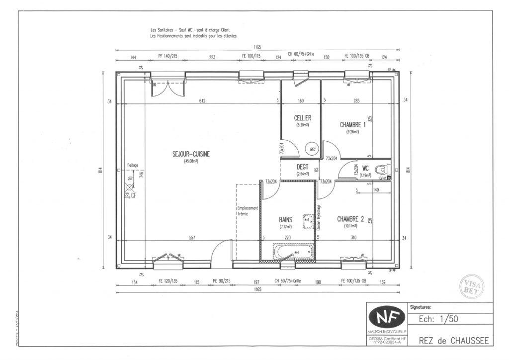 Plan définitif de la maison